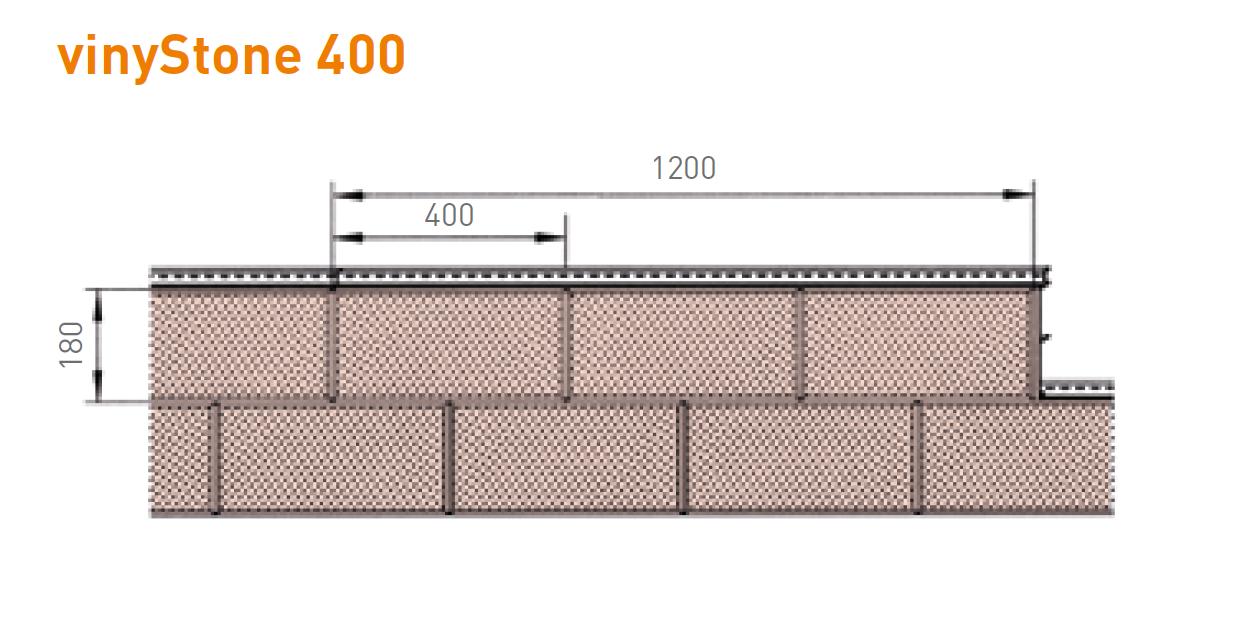 Bardage Vinystone DESIGN 180x26 Mm Longueur 1.20ml Basalt