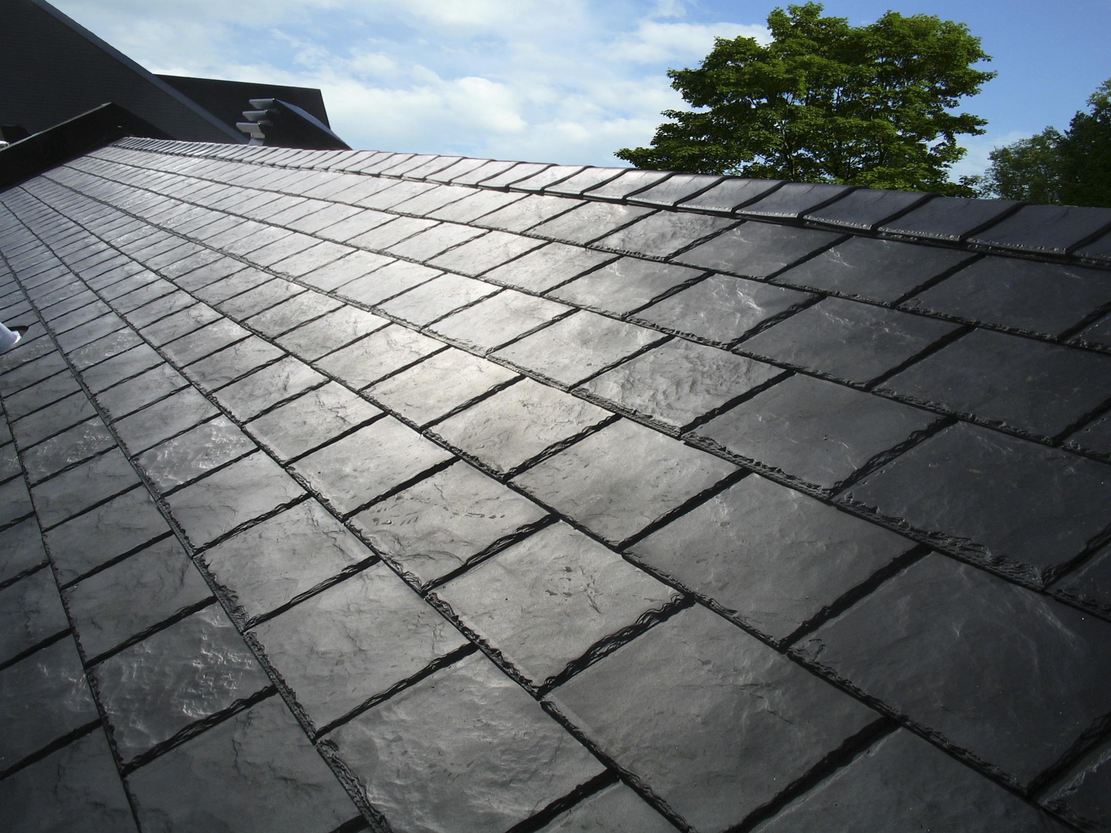 Panneau de toiture imitation ardoise L135.3xH57.15 gris ...