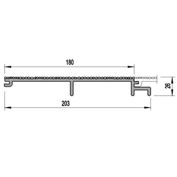 Visuel Bardage PVC Cellulaire Vinytherm® sans chanfrein Aspect Crépi Elba - 6 x 6 ml