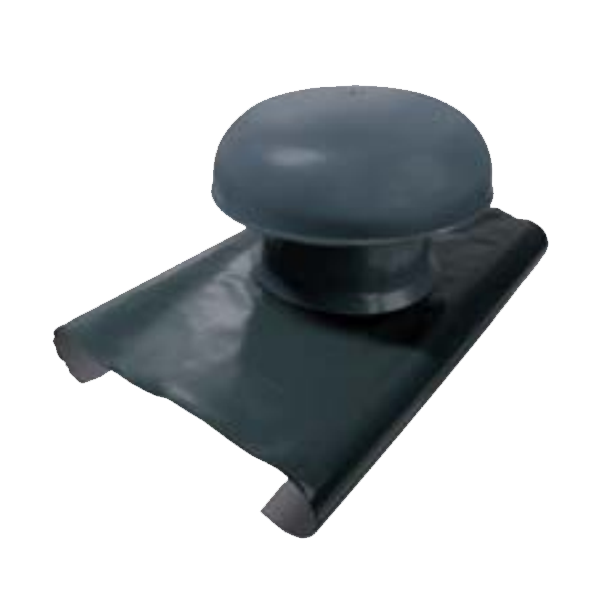 Visuel Chapeau de Ventilation avec Bandfe Plomb diam. 100 Ardoise