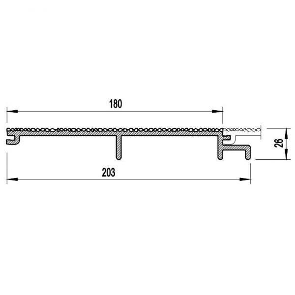 Visuel Bardage PVC Cellulaire Vinytherm® sans chanfrein Aspect Crépi Aqua - 6 x 6 ml
