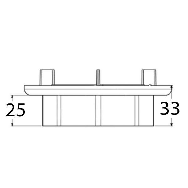 Visuel Réhausse 25 mm pour plot gamme Essentiel