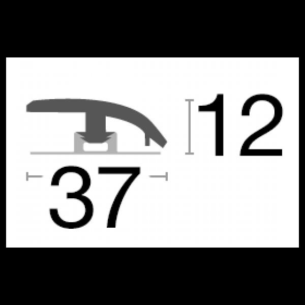 Visuel Profil d'adaptation assorti COREtec Jura 2400 x 37 x 12 mm