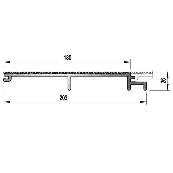 Visuel Bardage PVC Cellulaire Vinytherm® sans chanfrein Aspect Crépi Ravenna - 6 x 6 ml