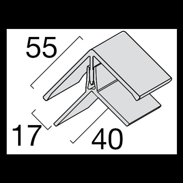 Visuel Profil d'angle Kerrafront® Caramel