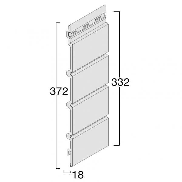 Visuel Bardage cellulaire FS304 Wood Design Caramel
