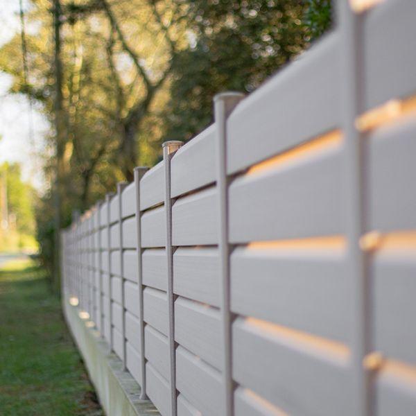 Visuel Lame Brise Vue PVC Zumaclos® 135 x 30 x 1500 mm Blanc