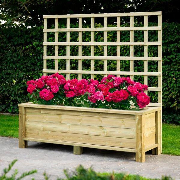 Visuel Jardinière Colibri 58 x 175 x 55 cm Pin Rouge du Nord Traité Vert