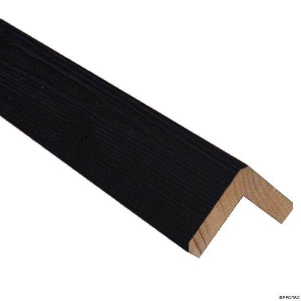 Visuel Cornière d'angle Clinexel® 62 x 62 mm Épicéa Intense black