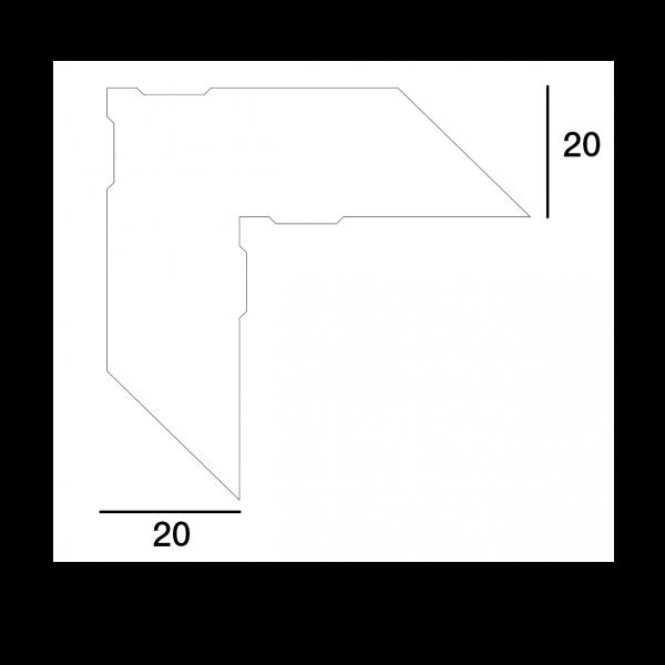 Visuel Équerre d'Assemblage ALU pour MD01 & HA003