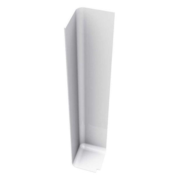 Visuel Angle Extérieur pour Planche de Rive en L 300 mm Blanc