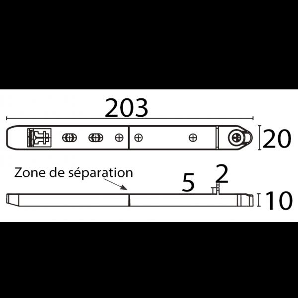 Visuel Fixego® pour Lame de Terrasse Bois ép. 19-25 mm