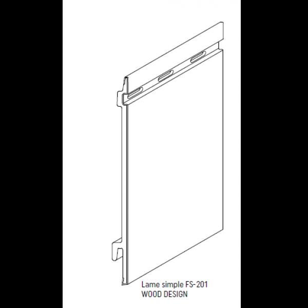 Visuel Bardage PVC Cellulaire Kerrafront® FS201 Connex Beige 2.95 ml