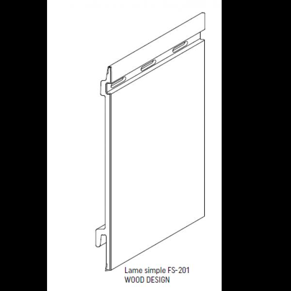 Visuel Bardage PVC Cellulaire Kerrafront® FS201 Connex Gris quartz 2.95 ml