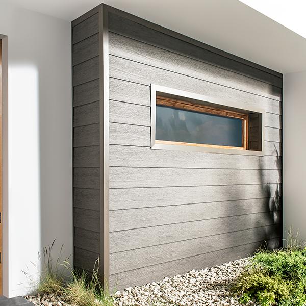 Visuel Bardage PVC Cellulaire Kerrafront® FS201 Wood design Connex Gris argenté 2.95 ml