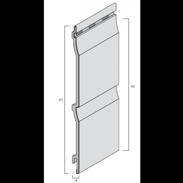 Visuel Bardage PVC Cellulaire Kerrafront® FS202 Beige 6 ml