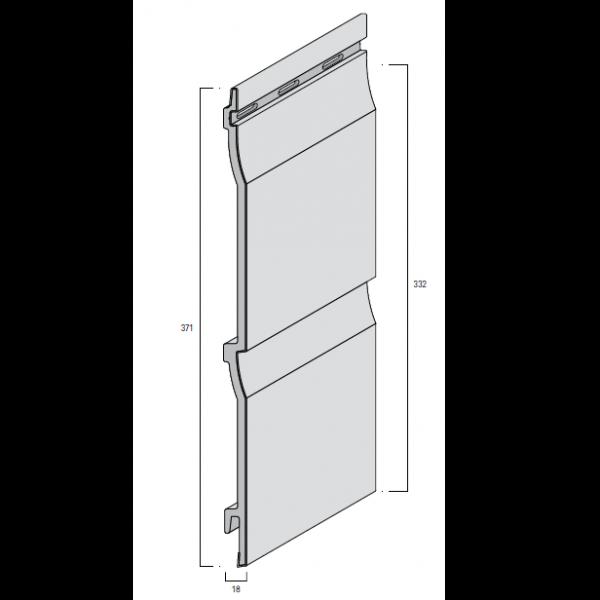 Visuel Bardage PVC Cellulaire Kerrafront® FS202 Gris clair 6 ml