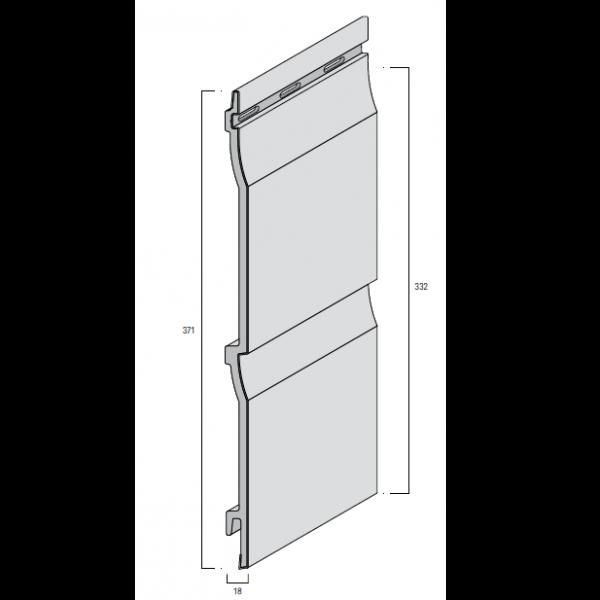 Visuel Bardage PVC Cellulaire Kerrafront® FS202 Pierre d'argile 6 ml