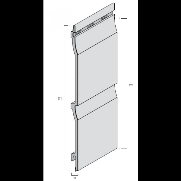 Visuel Bardage PVC Cellulaire Kerrafront® FS202 Pierre d'argile 3 ml
