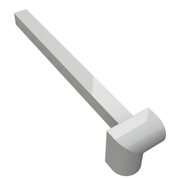 Visuel Angle Intérieur H. 300 mm pour Planche de Rive Blanc