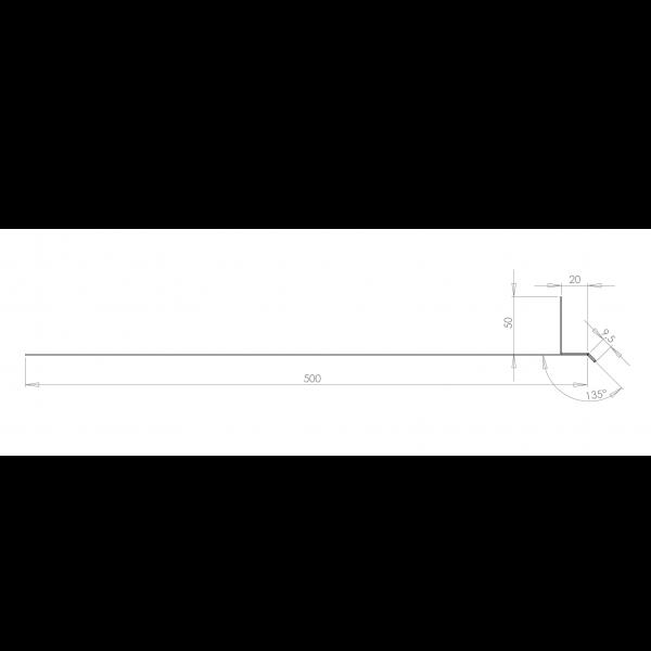 Visuel Tôle Linteau Alu Ventilée RAL 1015