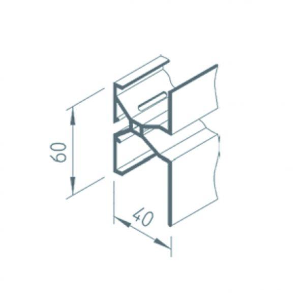 Visuel Profil de Jonction Vinytherm® 40 x 60 mm Blanc