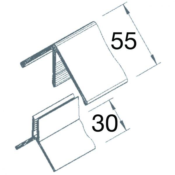 Visuel Angle Sortant 2 parties Vinyplus® Vert sapin