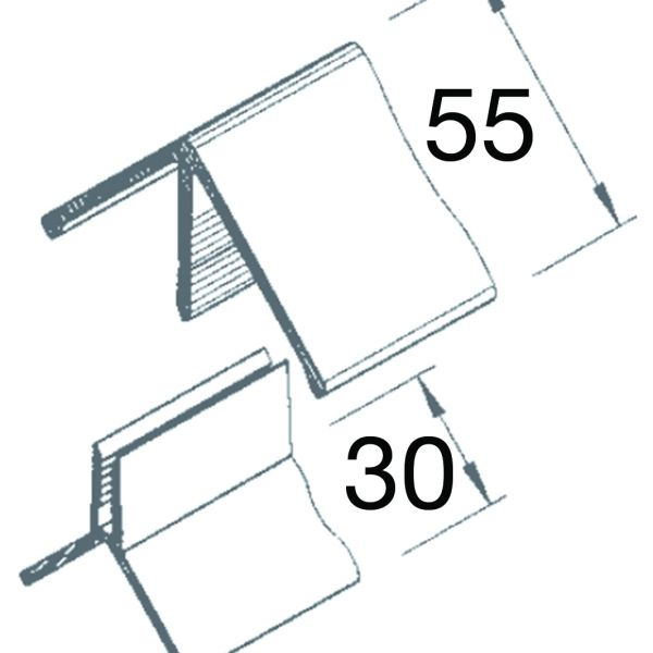 Visuel Angle Sortant 2 parties Vinyplus® Acacia