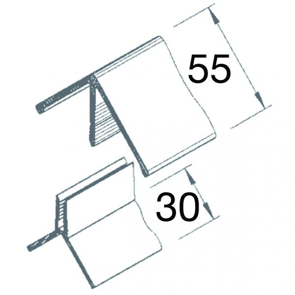 Visuel Angle Sortant 2 parties Vinyplus® Anteak grey