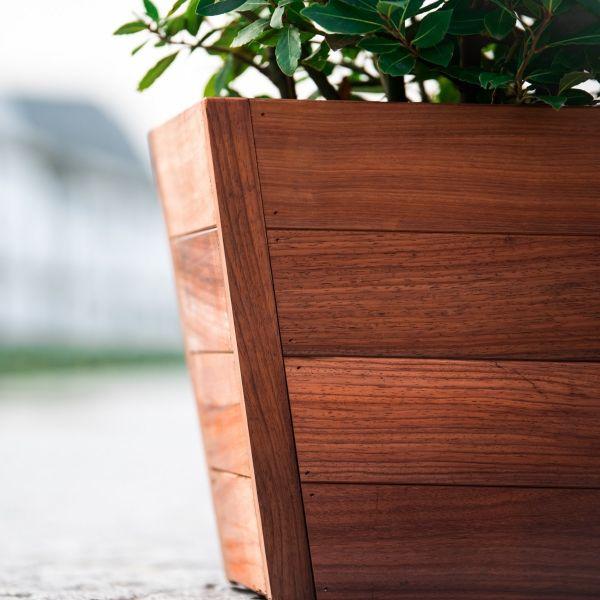 Visuel Jardinière en Padouk Padova 50 x 148 x 55 mm Brun rouge