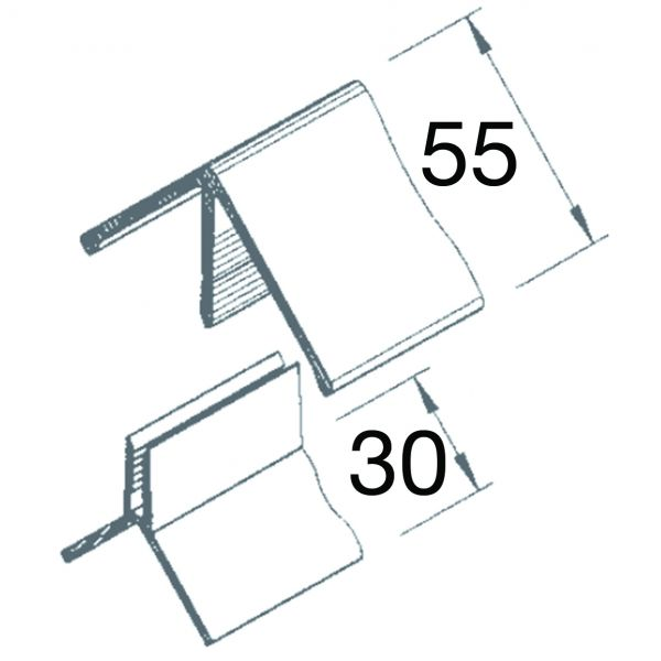 Visuel Angle Sortant 2 parties Vinyplus® Gris clair