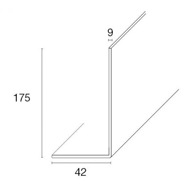 Visuel Planche de rive PVC Cellulaire arrondie Forme L H 175 mm Chêne doré