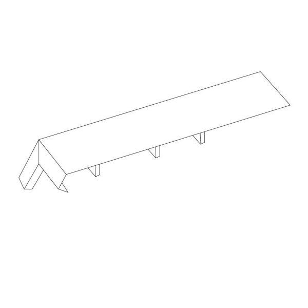 Visuel Angle Extérieur pour Planche de Rive Alvéolaire 13-16-21 cm Blanc