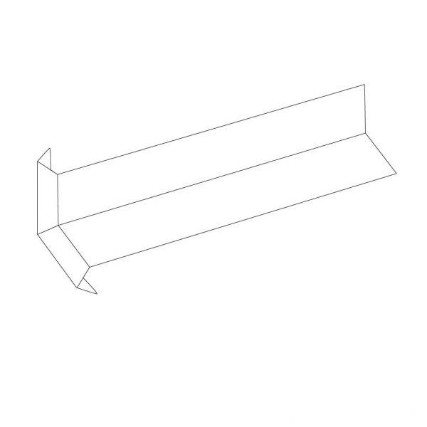 Visuel Angle Intérieur pour Planche de Rive Alvéolaire Blanc