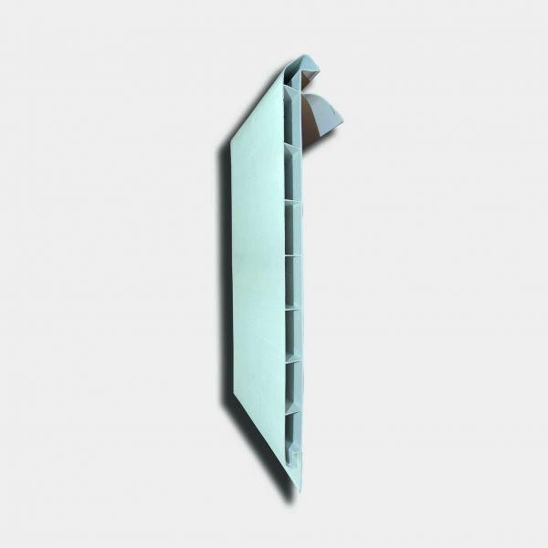 Visuel Planche de rive PVC Alvéolaire Moulurée H 210 mm Blanc