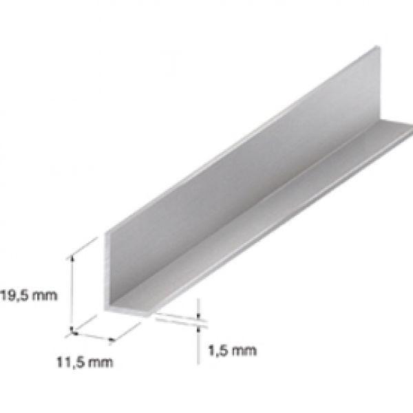 Visuel Profil de finition en L universel 19.5 x 11.5 mm Silver 2.7ml