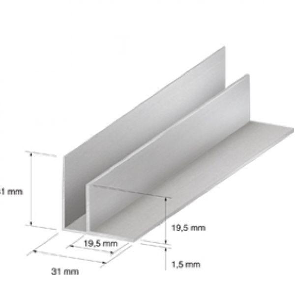 Visuel Angle intérieur 31 x 31 mm Silver 2.7ml
