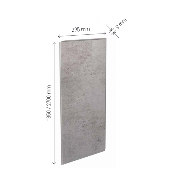 Visuel Revêtement Cellulaire Kerradeco® 2700 x 295 x 9 mm Stone Misty