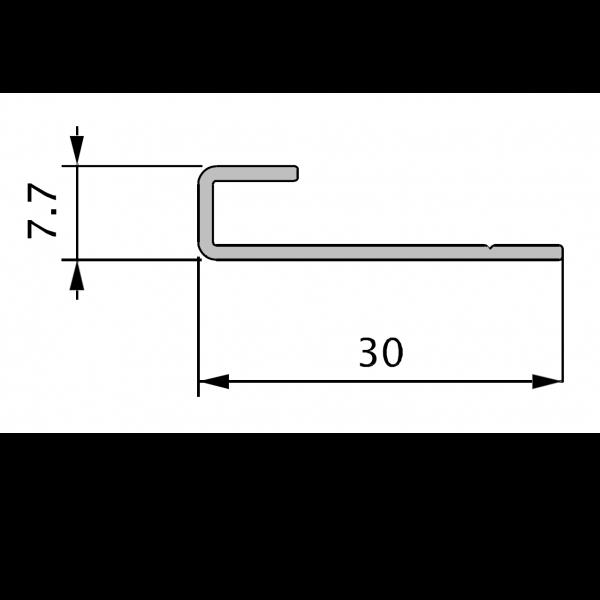 Visuel Profil de Départ Alu 70 x 30 mm