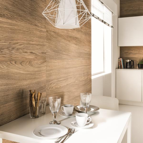 Visuel Revêtement Cellulaire Kerradeco® 1350 x 295 x 9 mm Wood brandy