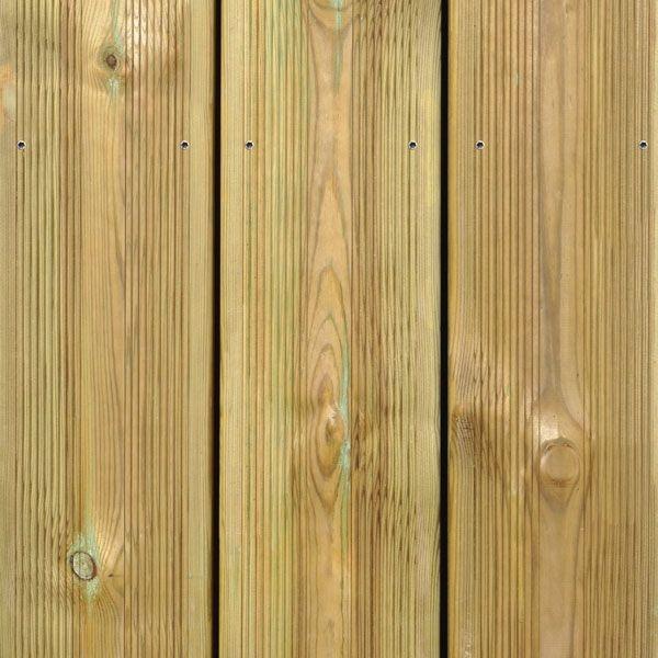 Visuel Lame de Terrasse Pin Sylvestre Preserve® 27 x 145 mm Vert