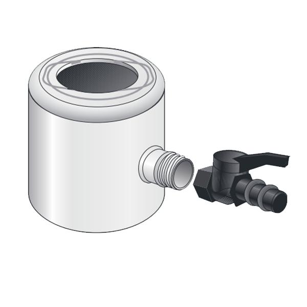 Visuel Récupérateur Eau Pluviale pour Tube 80 ou 100 mm Gris
