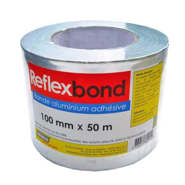 Visuel Aluminium en Rouleau Adhésif 100 mm x 50 ml