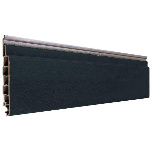 Visuel Bardage PVC Alvéolaire Vinyplus® Rond Aspect Bois Gris anthracite - 4 x 6 ml
