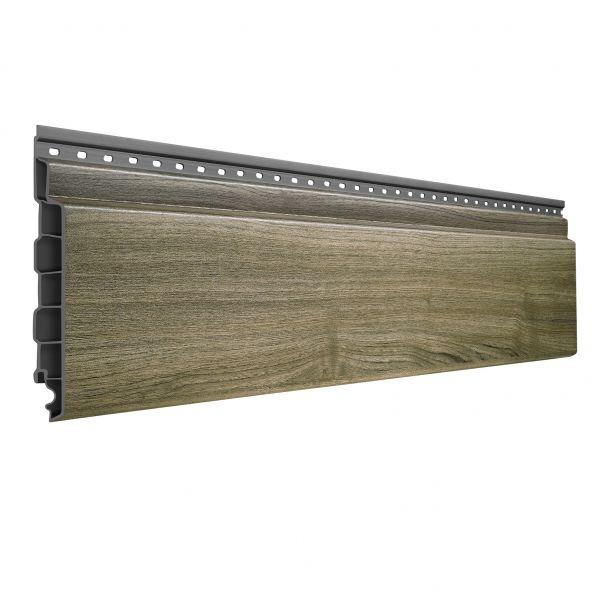 Visuel Bardage PVC Alvéolaire Vinyplus® Rond Aspect Bois Anteak grey - 4 x 6 ml