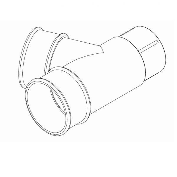 Visuel Connecteur 67,5° pour Tuyau 68 mm Anthracite