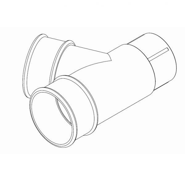 Visuel Connecteur 67,5° pour Tuyau 68 mm Fonte