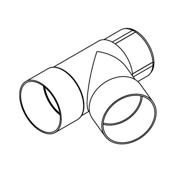 Visuel Culotte 67,5° pour Tuyau 80 mm Blanc