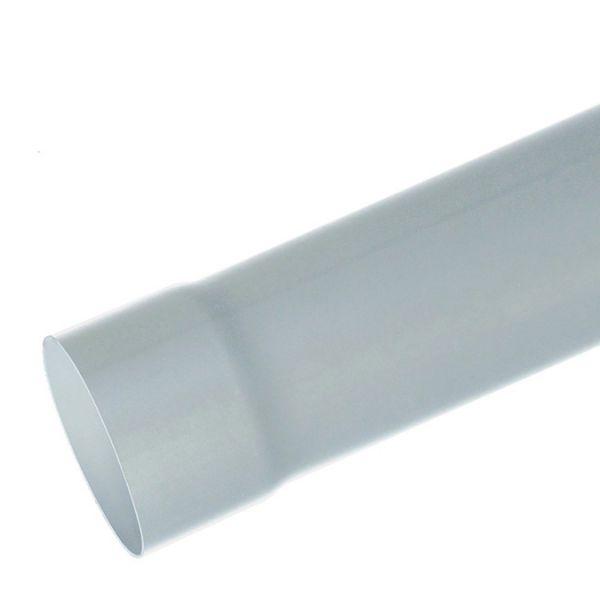 Visuel Tube de descente D.80 mm Longueur 4 ml Zinc