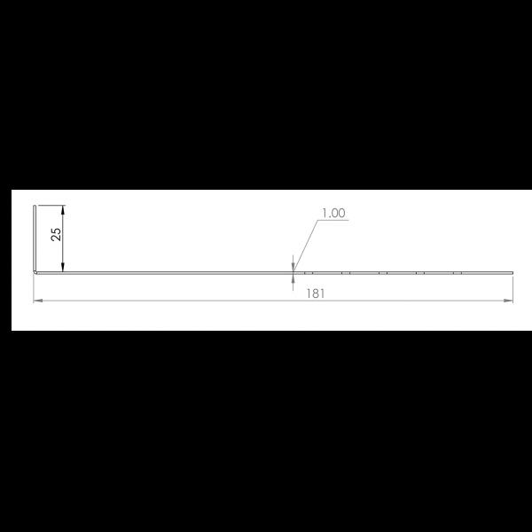 Visuel Tôle départ Alu Ventilée Packeasy® prof. 181 mm RAL 1015
